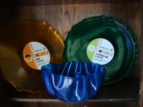 Colorful Record plates, and bowls