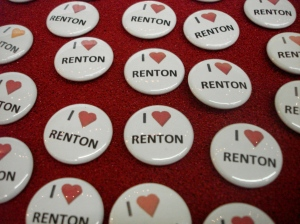 I heart Renton Buttons